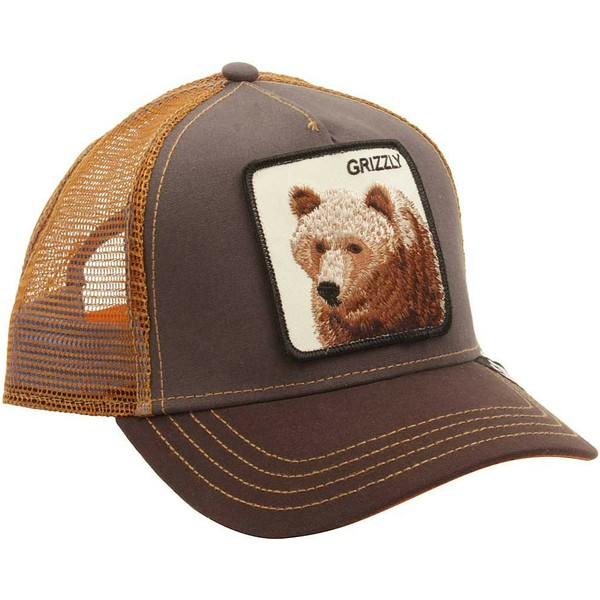 gorra-trucker-marron-oso-grizz-de-goorin-bros