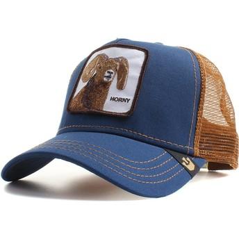 Gorra trucker azul marino cabra Big Horn de Goorin Bros.
