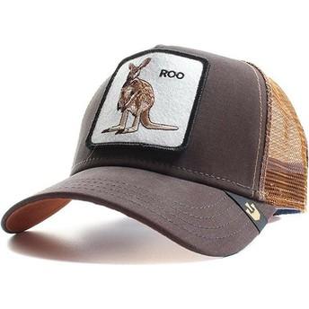Gorra trucker marrón canguro Roo de Goorin Bros.