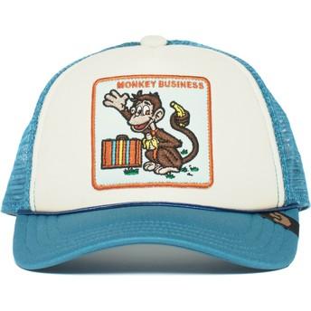 Gorra trucker azul para niño mono Monkey Business de Goorin Bros.