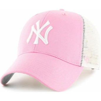Gorra trucker rosa de New York Yankees MLB de 47 Brand