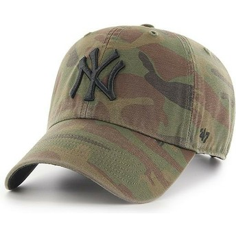 Gorra curva camuflaje con logo negro de New York Yankees MLB Regiment Clean Up de 47 Brand