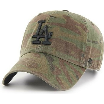 Gorra curva camuflaje con logo negro de Los Angeles Dodgers MLB Regiment Clean Up de 47 Brand