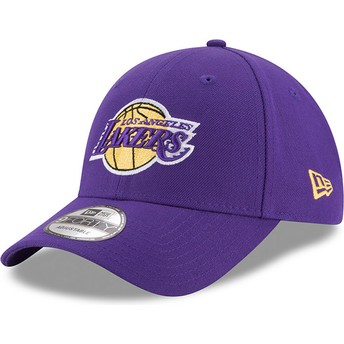 Gorra curva violeta ajustable 9FORTY The League de Los Angeles Lakers NBA de  New Era b76f70045bd