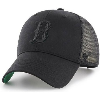 Gorra trucker negra con logo negro de Boston Red Sox MLB MVP Branson de 47 Brand