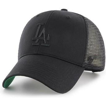 Gorra trucker negra con logo negro de Los Angeles Dodgers MLB MVP Branson de 47 Brand