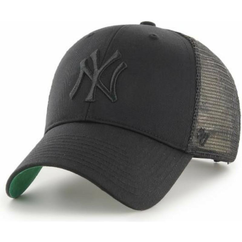 Gorra trucker negra con logo negro de New York Yankees MLB MVP Branson de 47 Brand plONAL
