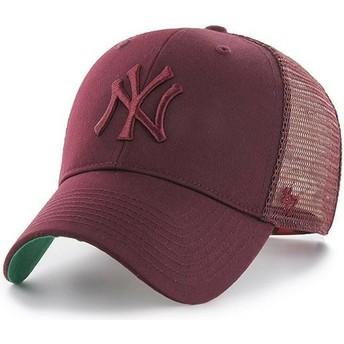 Gorra trucker granate con logo granate de New York Yankees MLB MVP Branson de 47 Brand