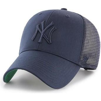 Gorra trucker azul marino con logo azul marino de New York Yankees MLB MVP Branson de 47 Brand