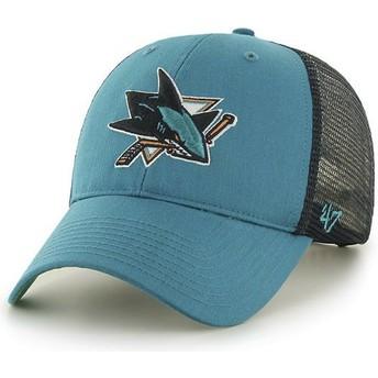 Gorra trucker verde de San Jose Sharks NHL MVP Branson de 47 Brand
