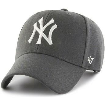 Gorra curva gris oscuro snapback de New York Yankees MLB MVP de 47 Brand