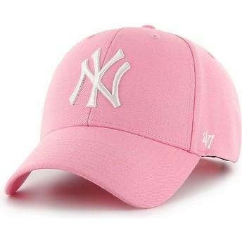 Gorra curva rosa snapback de New York Yankees MLB MVP de 47 Brand