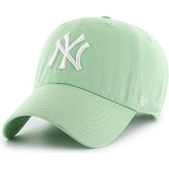 Gorra curva verde claro de New York Yankees MLB Clean Up de 47 Brand