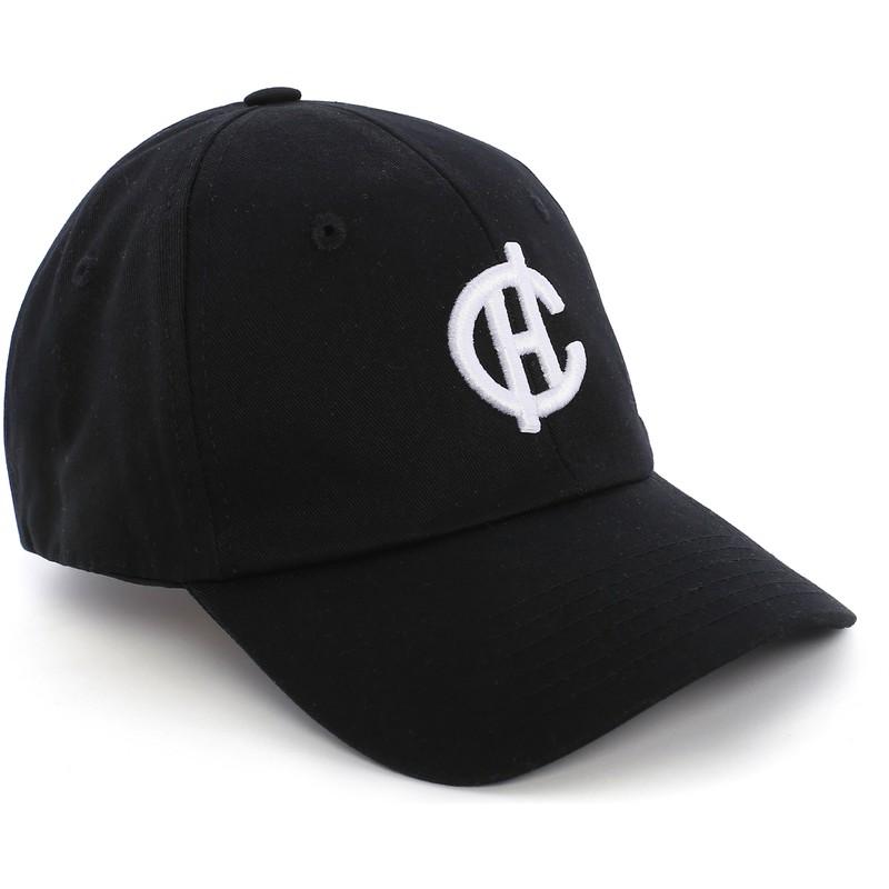 10021edd597ed Gorra curva negra Aspen con logo CH de Caphunters  comprar online en ...
