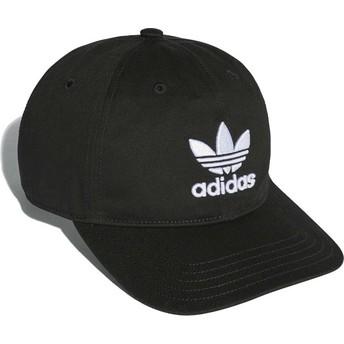 Gorra curva negra ajustable Trefoil Classic de Adidas