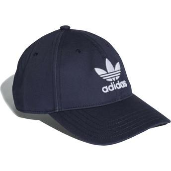 Gorra curva azul marino ajustable Trefoil Classic de Adidas