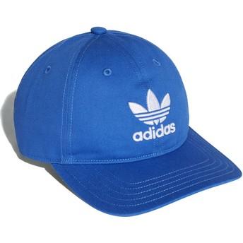 Gorra curva azul ajustable Trefoil Classic de Adidas