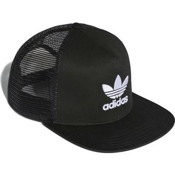 Gorra trucker negra Trefoil de Adidas