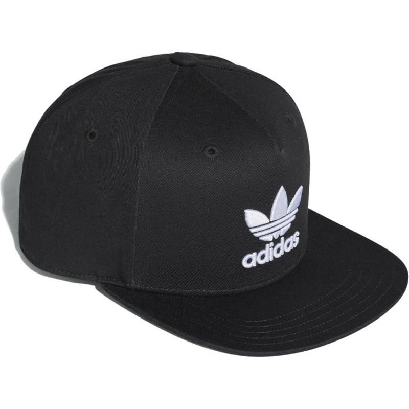 38e9c0fb9fd0a Gorra plana negra snapback Trefoil de Adidas  comprar online en ...