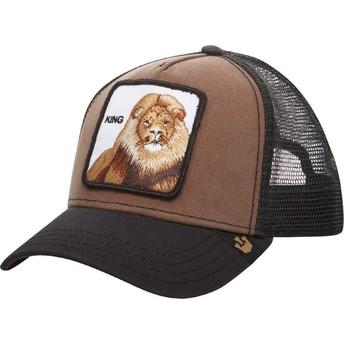 Gorra trucker marrón león King de Goorin Bros. 953de7e67f8