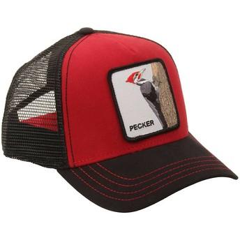 Gorra trucker roja pájaro carpintero Woody Wood de Goorin Bros.