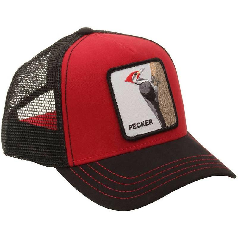 Gorra trucker roja pájaro carpintero Woody Wood de Goorin Bros ... 7dbaaa2d262