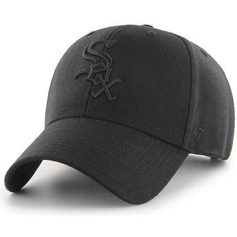 Gorra curva negra snapback con logo negro de Chicago White Sox MLB MVP de 47 Brand