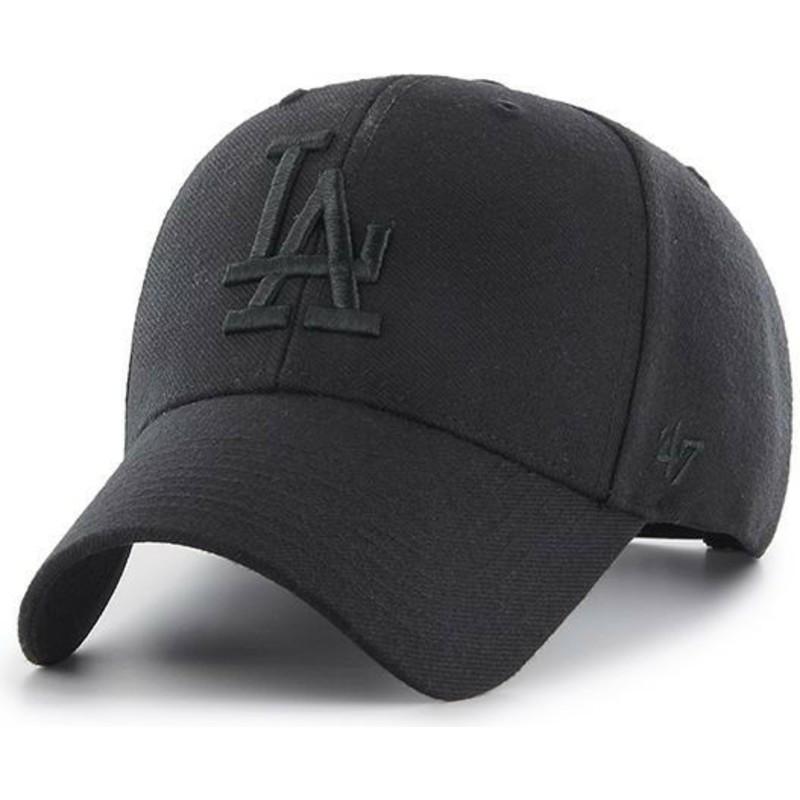 24573b07bac82 Gorra curva negra snapback con logo negro de Los Angeles Dodgers MLB ...
