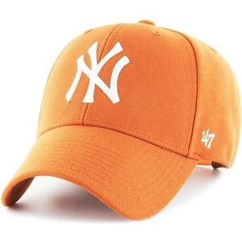 Gorra curva naranja snapback de New York Yankees MLB MVP de 47 Brand