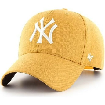 Gorra curva amarilla snapback de New York Yankees MLB MVP de 47 Brand