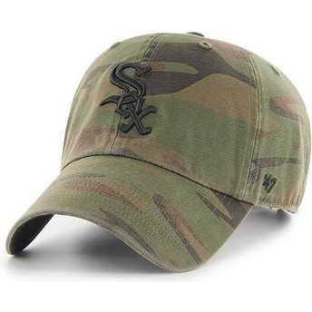 Gorra curva camuflaje con logo negro de Chicago White Sox MLB Clean Up Regiment de 47 Brand