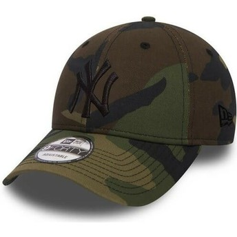 Gorra curva camuflaje con logo negro ajustable 9FORTY Essential de New York Yankees MLB de New Era