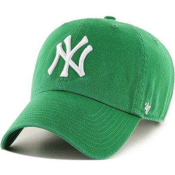 Gorra curva verde de New York Yankees MLB Clean Up de 47 Brand
