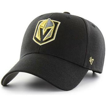 Gorra curva negra de Vegas Golden Knights NHL MVP de 47 Brand