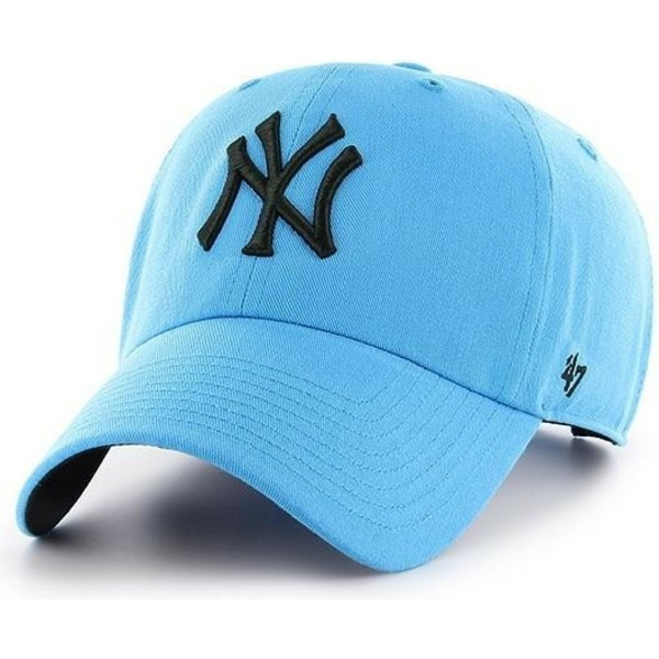 gorra-curva-azul-de-new-york-yankees-mlb-clean-up-neon-de-47-brand