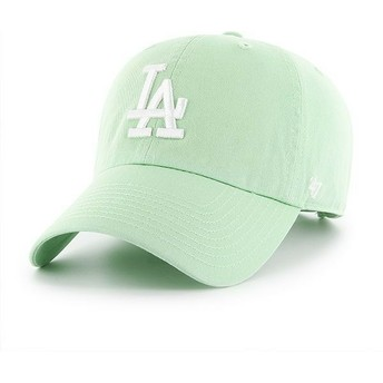 Gorra curva verde claro de Los Angeles Dodgers MLB Clean Up de 47 Brand