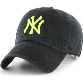 Gorra curva negra con logo amarillo de New York Yankees MLB Clean Up de 47 Brand