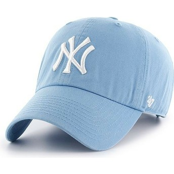 Gorra curva azul columbia de New York Yankees MLB Clean Up de 47 Brand