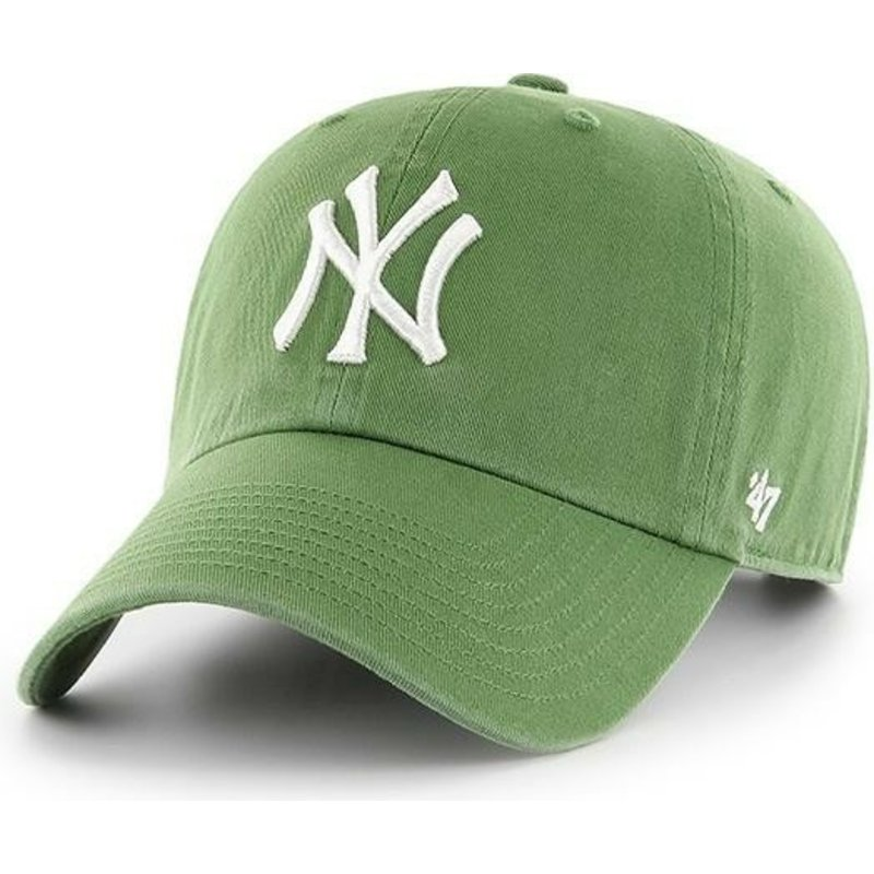gorra-curva-verde-helecho-de-new-york-yankees-mlb-clean-up-de-47-brand