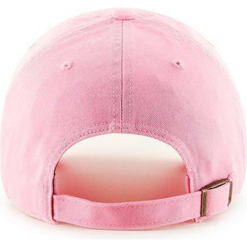 Gorra curva rosa con logo rosa de New York Yankees MLB Clean Up de ... 89b075d22a2