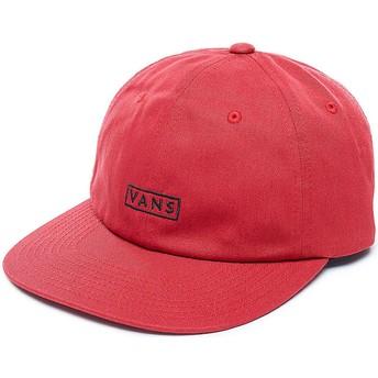 Gorra curva roja ajustable Bill de Vans