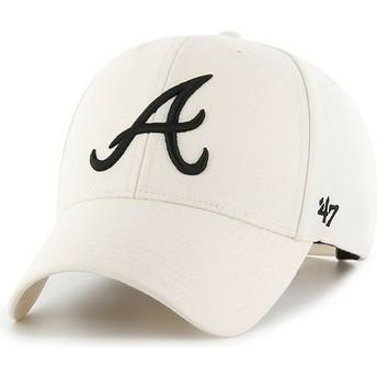 Gorra curva crema snapback de Atlanta Braves MLB MVP de 47 Brand