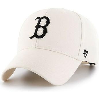 Gorra curva crema snapback de Boston Red Sox MLB MVP de 47 Brand
