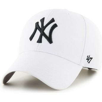 Gorra curva blanca snapback de New York Yankees MLB MVP de 47 Brand