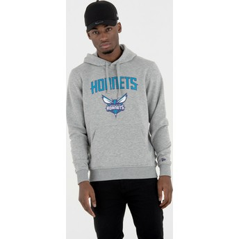 Sudadera con capucha gris Pullover Hoody de Charlotte Hornets NBA de New Era