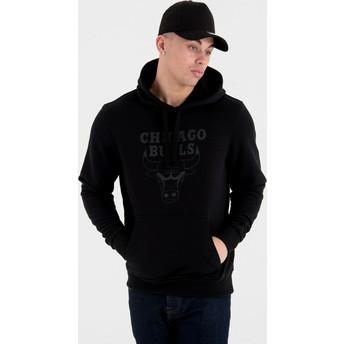 Sudadera con capucha negra con logo negro Pullover Hoody de Chicago Bulls NBA de New Era