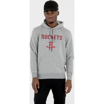 Sudadera con capucha gris Pullover Hoody de Houston Rockets NBA de New Era