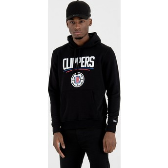 Sudadera con capucha negra Pullover Hoody de Los Angeles Clippers NBA de New Era