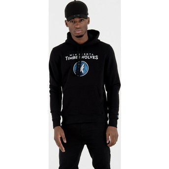 Sudadera con capucha negra Pullover Hoody de Minnesota Timberwolves NBA de New Era