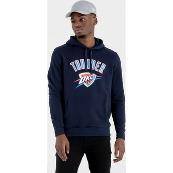Sudadera con capucha azul marino Pullover Hoody de Oklahoma City Thunder NBA de New Era
